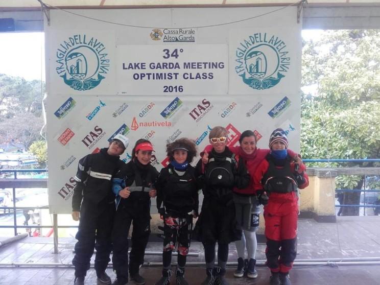 La squadra agonistica sul Lago di Garda