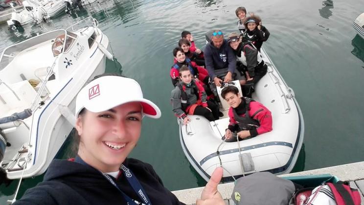 Con gli istruttori prima di una regata